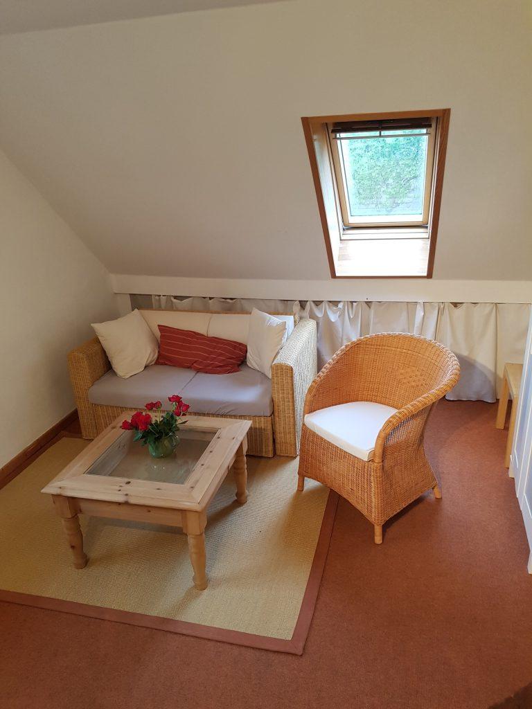 Wohnzimmer Ferienwohnung im Dachgeschoss